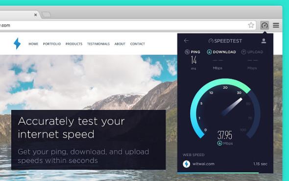 הכירו את התוסף של Speetest.net ל-Chrome